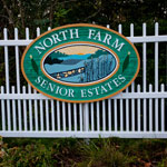 Fence entering North Farm Estates